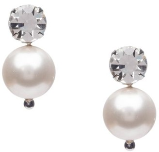 Dannijo Mabe 12MM Freshwater Pearl & Crystal Drop Earrings