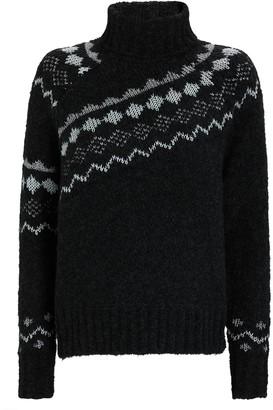 Derek Lam 10 Crosby Grammer Fair Isle Turtleneck Sweater