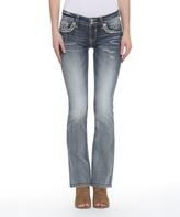 Vigoss Light Wash Embellished-Pocket New York Bootcut Jeans