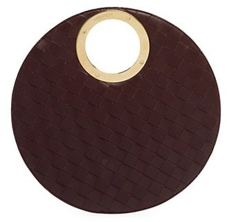 Bottega Veneta Small Leather Circle Clutch