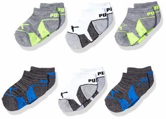 Puma baby boys Infant Boys' 6 Pack No Show Tennis Socks