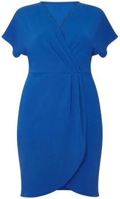 Yumi London Curve Capped Sleeve Wrap Dress