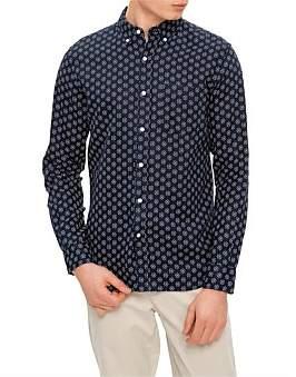 David Jones Linen Burst Print Shirt