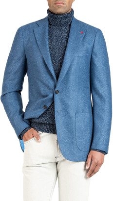 Isaia Men's Donegal Cashmere Two-Button Jacket
