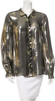 Suno Metallic Silk Top w/ Tags