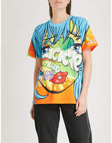 Moschino Crazy Fruits pinted cotton-jersey T-shirt