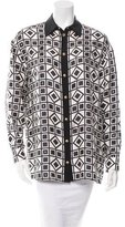 Fausto Puglisi Printed Silk Top w/ Tags
