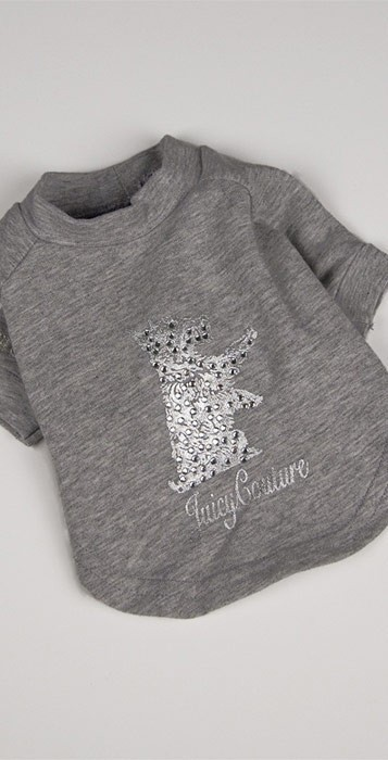 Juicy Couture Sequin Scottie Shirt in Cozy