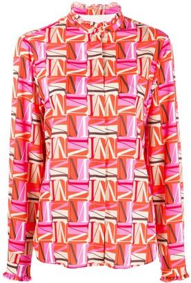 MSGM letter M printed shirt
