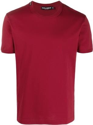 Dolce & Gabbana logo-patch crew-neck T-shirt