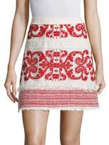 Alexis Anzel Embroidered Mini Skirt