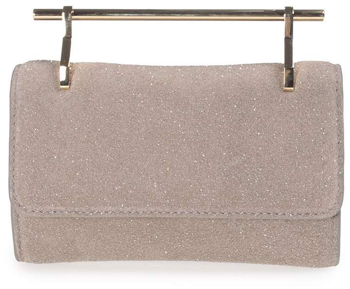 M2Malletier Fabricca Mini Glittered Leather Handbag