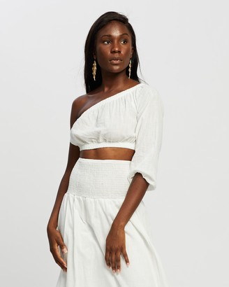 Reverse Women's White Midi Skirts - Linen-Look Midi Skirt and Top Set - Size XS at The Iconic