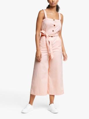 People Tree Rena Cotton Jumpsuit, Pink