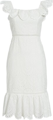 Sam Edelman Sam Edleman Ruffle Eyelet Dress