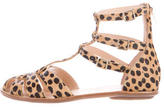 Loeffler Randall Calf Hair Gladiator Sandals