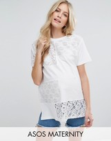 Asos T-Shirt in Oversized Fit with Cutabout Lace