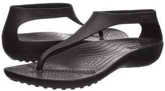 Crocs Serena Flip (Black/Black) Women's Sandals