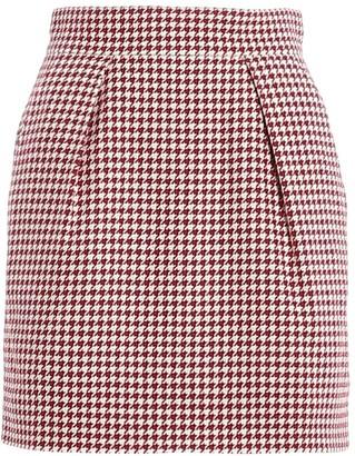 Alexandre Vauthier Houndstooth Mini Skirt