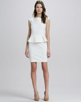 French Connection Cap-Sleeve Peplum Dress