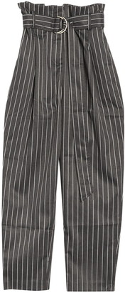 FRNCH Belted Stripe Print Pants