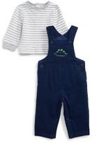 Little Me Infant Boy's Dino Fun Overalls & T-Shirt Set