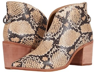 Kaanas Bellone Open Front Snake Bootie (Sand) Women's Shoes