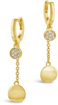 Thumbnail for your product : Sterling Forever CZ Pave Double Disk Charm & Huggie Hoop Earrings