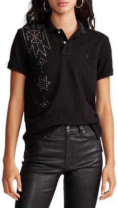 Polo Ralph Lauren Classic Fit Rhinestone Polo