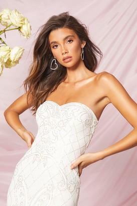 boohoo Bridesmaid Bandeau Hand Embellished Maxi Dress