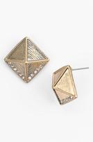 BP Rhinestone Pyramid Stud Earrings