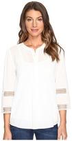 NYDJ Lace Trim Top Women's Clothing