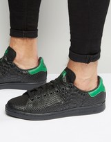 adidas Stan Smith Snake Effect Sneakers In Black S80022