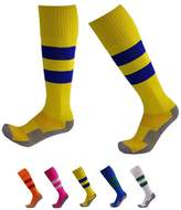 VWU Boys Girls Mens Womens Thick Knee High Soccer Socks Stripe Compression Socks Athletic Socks (L, )