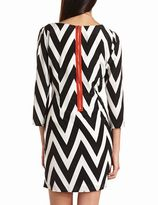 Charlotte Russe Zip-Back Chevron Shift Dress