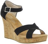 Toms Women's Strapy Wedge Canvas Cork Ankle-High Canvas Sandal - 6M