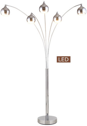 Artiva USA Amore LED Arched Floor Lamp With Dimmer, Chrome