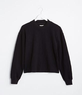 LOFT Lou & Grey Cozy Jersey Mock Neck Sweatshirt