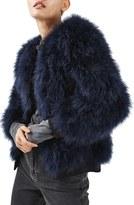 Topshop Ozzy Marabou Feather Coat