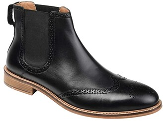 Thomas & Vine Watson Wing Tip Chelsea Boot (Black) Men's Shoes