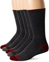 Reebok Men's 5 Pack Performance Crew Marle Heel Toe Design Sock