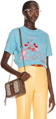 Gucci Mickey T Shirt in Azure & Multicolor | FWRD