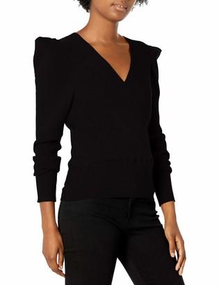 ASTR the Label Women's Suki Pleated Sleave Surplice Wrap Knit Sweater