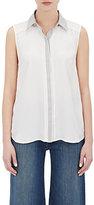 Frame Women's Le Classic Sleeveless Pleat Blouse-WHITE, GREY
