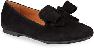Gentle Souls Eugene Suede Ribbon Bow Loafers