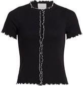 Cinq à Sept Poppy Lettuce Trim T-Shirt
