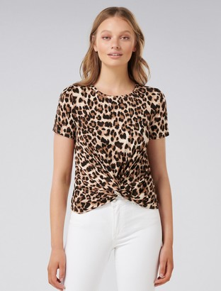 Ever New Celine Twist-Front Crop Top