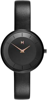 MVMT Mod B2 Stainless Steel Leather-Strap Watch
