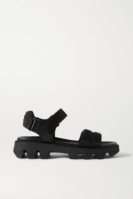 Prada Leather And Nylon Sandals - Black