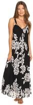Oscar de la Renta Printed Silky Georgette Long Gown Women's Pajama